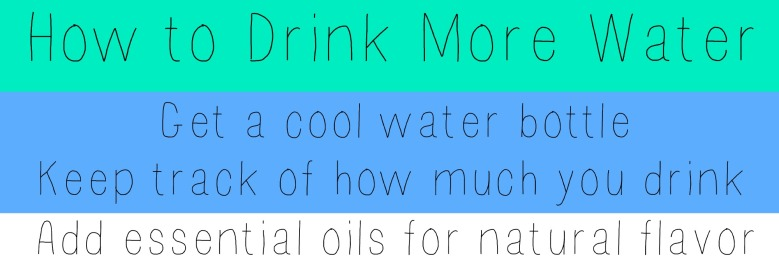 how to drink more water